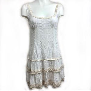 FREE PEOPLE Rare HTF White Embroidered Crochet XS
